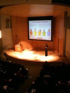 Amanda OBrien speaking at Social Media FTW