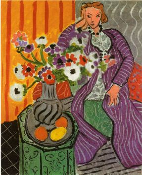 Henri Matisse Purple Robe and Anemones