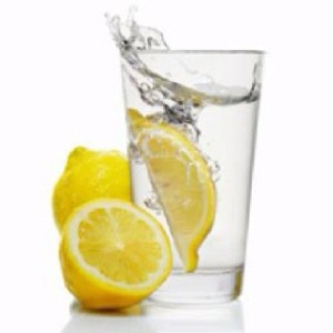 lemon flavored water