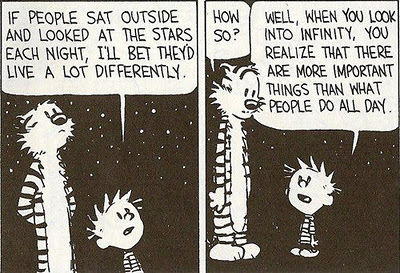Calvin & Hobbes- Infinite sky and people